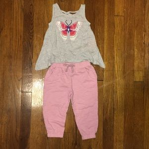 Gymboree Outfit: Fluttery Butterfly Tank & Joggers